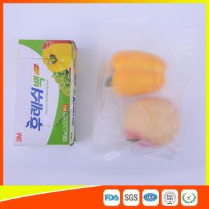 Transparent Fruit Packaging Zip Top Freezer Bags Plastic HDPE / LDPE Material Manufactures