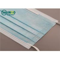Buy cheap Wholesale surgical and civil use anti-virus anti-smog disposable blue face mask from wholesalers
