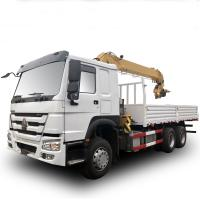 Buy cheap HOWO 4x2 290hp 15tons Hydraulic Arm Truck Mounted Crane Boom Truck from wholesalers