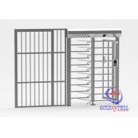 Buy cheap RFID / 2D Readers Full Body Turnstile Stainless Steel 1.1mts Wide Magnetic Lock Bypass Door from wholesalers