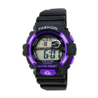 China Outdoor Adult Black Strap Digital Wrist Watch 24 Hour System , Water Resistant on sale