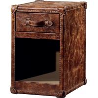 Buy cheap Vintage Full Brown Leather Storage Trunk Strong Canvas 0.12CBM Volume Without Door from wholesalers