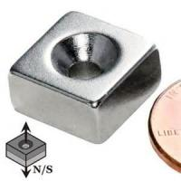 Buy cheap custom-made big block neodymium magnet with countersink/square ndfeb magnet with hole for sale from wholesalers