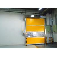 English Man-Machine Interface Industrial High Speed Door With Shoulder Protection Manufactures