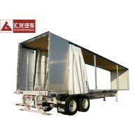 Buy cheap PVC Tarpaulin Curtain Side Trailer , Curtain Side Semi Trailer With Sloping Floor from wholesalers