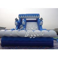 Buy cheap Dolphin Double Slip Kids Inflatable Slides Bouncer Blue , PVC EN14960 from wholesalers