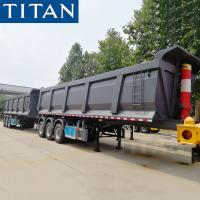 Buy cheap TITAN triple axle 60 ton new dump tipper truck trailers for sale from wholesalers