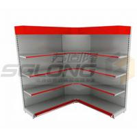 Quality Customizable Color Supermarket Display Racks Close / Open Corner Shelf for sale