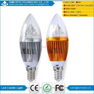 China E27 4W LED candle light 3000k warm white led candle lighting factory price on sale