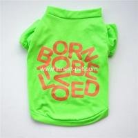 Wholesale pets products 100% cotton colorful cute dogs Tshirt, Green color dog clothes from china suppliers