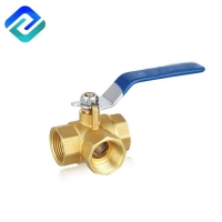 Buy cheap Brass Investment Casting Stainless Steel 3 Way Valve CuZn39Pb3 L Pattern ISO228 from wholesalers