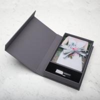 Wholesale Grey Card Board Paper Magnetic Box Packaging Creative USB Gift Card from china suppliers
