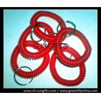 Buy cheap Soft wrist coil, red small coils, plastic coiled key chains from wholesalers