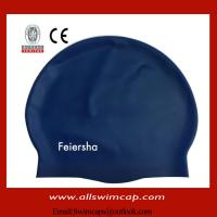 Buy cheap OEM silicon swimming bathing cap from wholesalers