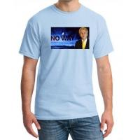 Buy cheap 100% Cotton Election T - Shirts Double Needle Hem 2 / 3 Large Pattern from wholesalers