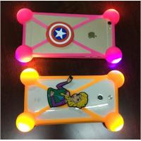 China Hot Sale Universal Silicone Phone Case 3D Cartoon LED Flash Light Phone Cover For Iphone Accessories on sale