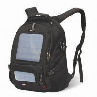 Buy cheap 4.5W Solar backpack, used for charging laptop, mobile phone, camera and other digital gadgets from wholesalers
