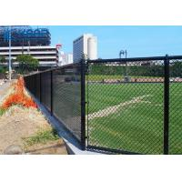 Buy cheap Black Chain Link Gate , Chain Mesh Fencing Baseball Football Court Applied from wholesalers