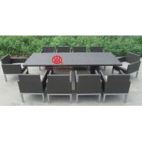 Fashion rattan table dining set for 10 persons,Leisure bistro rattan dining set Manufactures