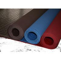 Red Industrial Rubber Sheet Top Round Button , Bottom Impression Fabric Non Slip Manufactures