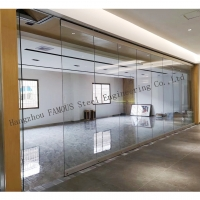 Buy cheap Office Room Dividers Manual Movable Sliding Glass Partition Wall from wholesalers