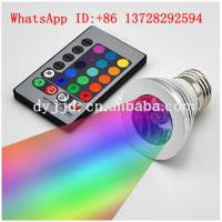 led magic bulbs light E27 remote control RGB led lighting 3w screw led bulbs Manufactures