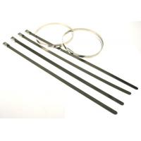Buy cheap High tensile strength outdoor long  #304 Stainless steel cable tie for cables, poles from wholesalers