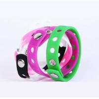 Buy cheap Promotional holes style  Silicone Rubber Bracelets , Colored Rubber Bracelets Metal Button from wholesalers