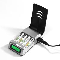 Buy cheap LCD Rapid 4 Slot Smart Rechargeable Battery Charger for AA AAA NiMH NiCD Battery from wholesalers