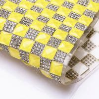 Buy cheap Fluorescent Yellow Diamond Trims Heat-Transfer BackSide 24x40cm/sheet from wholesalers