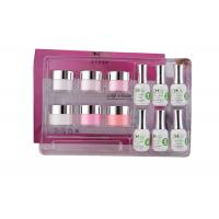 Smooth French Dip Kit Non - Yellowing , White And Pink French Nail Art Kit
