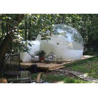 Wholesale 4 M Inflatable Lawn Tent Clear Bubble , Inflated Bubble Tent With Frame Tunnel from china suppliers