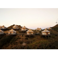 Buy cheap Prefabricated Natural Style Semi-Permanent Tents Building House Resort Tent Luxury Hotel from wholesalers
