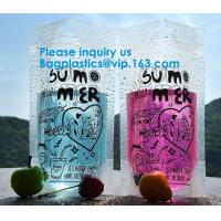 Buy cheap Custom Clear Aluminum Foil Coffee Tea Packaging Side Gusset Flat Bottom Stand Up Pouch Bags With Ziplock from wholesalers