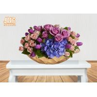 Buy cheap Gold Leafed Fiberglass Flower Serving Bowl Decorative Table Vases Boat Shape from wholesalers