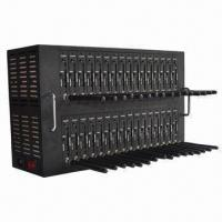 Buy cheap 32-port GSM/GPRS Modem Pool with 32 SIM Cards, Supports 19,200 SMS/Hour and USB Interface from wholesalers