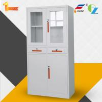 Modern steel cupboard with 2 adjustable shelves, Storage cabinet FYD-W013 dimension:H1850XW900XD400mm, KD Manufactures