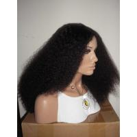 Wholesale 100% Virgin Human Hair Light Yaki Bleached Knots Full Lace Wig Manufactures