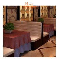 Buy cheap Comfortable Hotel Restaurant Furniture Horizontal Channel Back Double Booth from wholesalers