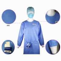 Buy cheap Impervious Disposable Surgical Gown Sms Protective Clothing Knitted Cuff Sleeve Standard from wholesalers