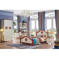 Buy cheap Elegant MDF modern white mediterranean style wooden kids bedroom furniture set from wholesalers