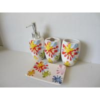 Wholesale Sunflower Modern Ceramic Bathroom Accessories Set Shining Finish For Home from china suppliers