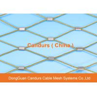 Buy cheap AISI 316 Flexible Sainless Steel Wire Cable Sleeve Mesh For Construction from wholesalers