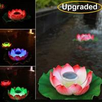 Buy cheap Upgraded 11 inch Solar Floating LED Lotus Light Waterproof RGB Color Changing Flower Night Lamp For Pond Pool from wholesalers