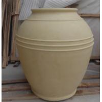 Buy cheap Customized design cast stone large garden carved pots for sale from wholesalers