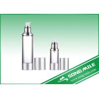 Buy cheap Airless Pump Bottle Silver Frosted Airless Sprayer Bottle 15ml 30ml from wholesalers