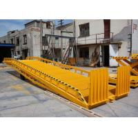 Buy cheap Yellow color Hydraulic Container Loading Dock Ramp Lift With handle pump reliable quality from wholesalers