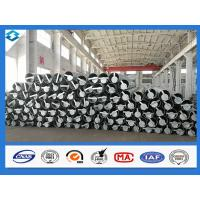 Wholesale 70FT 5mm Thick Q420 Galvanized and Black Tar Painted Electric Steel Poles from china suppliers