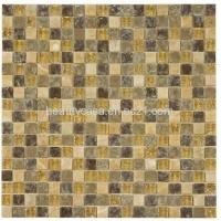 Wholesale Ice Broken Yellow Glass Mix Marlbe Mosaic 15*15*8mm from china suppliers