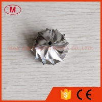 Buy cheap KP39 35.57/46.00mm 6+6blades high performance Turbo milling/aluminum 2618/billet compressor wheel from wholesalers